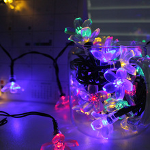 6M 30LEDs Light String RGB Solar Power Wedding Fairy Light Luminaria Decor Garland Lamp For New Year Christmas LED String Lamp(China)