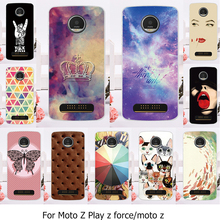 Phone Case For Motorola Moto Z Force Play X4 Edition Verizon Vector maxx Droid 2016 XT1635 XT1650 XT1650-05 Cat Sky Cover
