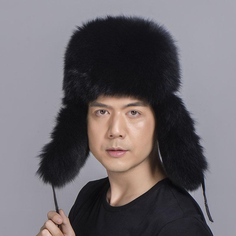 big fur hat black fox fur 3