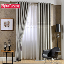 Flying Dancing Modern Style Solid Linen Curtains for Living Room Splice Cotton Curtains For Bedroom White Sheer Window Treatmen