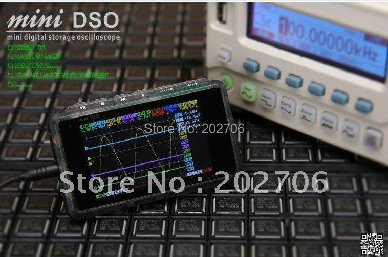 DS203 minidso pocket oscilloscope DSO quad stm32 open source suite oscilloscope host metal shell(China (Mainland))