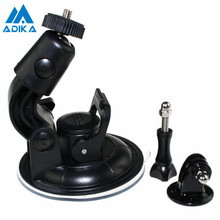 ADIKA Diameter Car Suction Cup Windshield Stand Auto Suction Cups Base Holder Tripod Mount Screw for GoPro Hero 4 3+ 2 1 SJCAM(China)