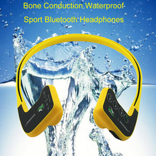 Waterproof Bluetooth Bone Conduction Headphones Sport Swimming Headset Music Bluetooth Receiver With Battery For Swimmer Diver