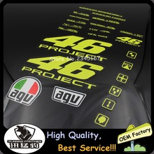 Stickers for MOTO GP 46# Rossi Valentino Motocross Sticers&Decals Reflective Motorcycle Car Stickers Bike windshield Helmet ATV