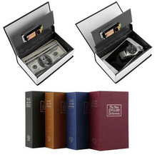 High Quality Hot Steel Simulation Dictionary Secret Book Safe Money Box Case Money Jewelry Storage Box Security Key Lock