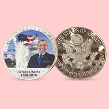 2017 Former US President Barack Obama Metal Iron Medal Silver Coin Token(China)