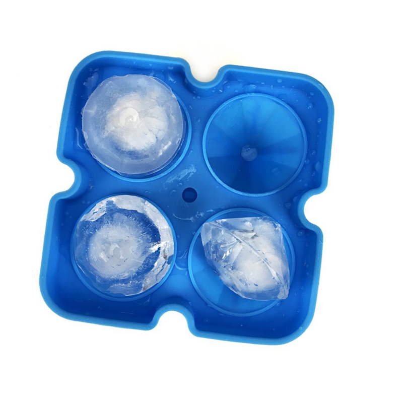 2018 New Silicone Ice Cube Tray Diamond Shape 3D Ice Cube Mold 4 Cavity Ice Ball Maker Home Bar Ice Cream Tools Kitchen Gadgets (4)