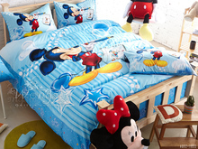 100% cotton Mickey Minnie cartoon kids boys girls bedding set 3/4pcs twin queen size duvet cover set bed quilt cover linen set(China)