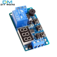 Digital LED Display Time Delay Relay Module Board DC 12V Control Timer Switch Trigger Cycle Module Car Buzzer PLC Automation