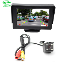 "GreenYi 2In1 Car Parking System Kit 4.3"" TFT LCD Color Rearview Display Monitor + Waterproof Reversing Backup Rear View Camera(China)"