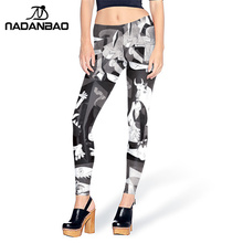 NADANBAO Hot Sale Brand Sexy Woman Legging Picasso painting Guernica Legins Unique Leggins Printed Women Leggings Women Pants