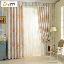 DIHIN 1 PC Linen/Cotton Cloth Garden Curtains for Living Room Window Curtains Blinds Custom Made