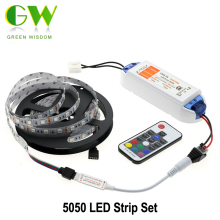 5050 LED Strip RGB RGB/Warm White/White/Cold White 5m Flexible LED Light + DC12V 6.3A LED Driver + RF Remote Controller