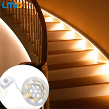 Lmid 2700K Warm White Recharged LED Strip Lights SMD2835 Flexible Motion LED Sensor Strip Light For Bedroom Stairway Cabinet(China)