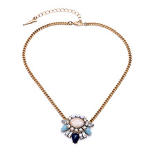 Fashion New Vintage Style Shimmering Heritage Blossom Pendant Necklace Fine Jewelry Adjustable Gold Chain for Women 2015