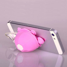 10PCS Little Turtle Model Earphone Headphone Winder Cable Silicone Cord Holder For Iphone samsung Phone holder stand