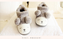 Cute Fluffy Ears Sheep Plush Cartoon Toys Warm Slippers Autumn Winter Slippers Shoes Woman Pantuflas Home Slippers Zapatos Mujer(China)