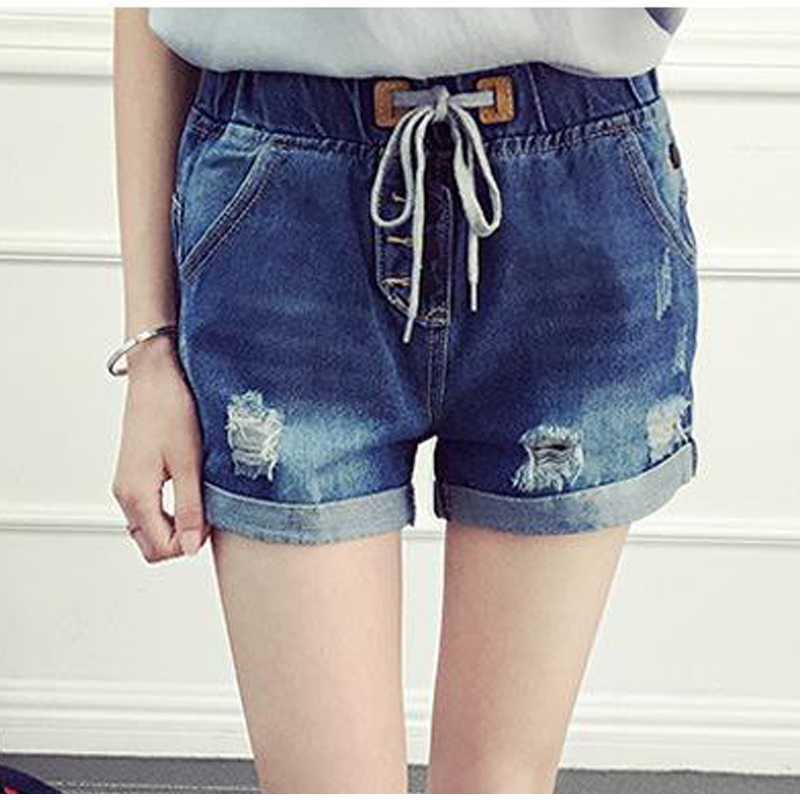 Jean shorts for women with lace 2017