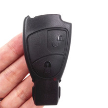 2 Button Replacement Remote Keyless Car Key Shell Fob Case for Mercedes-Benz MB M S C E CL  With Logo Without Battery Holder