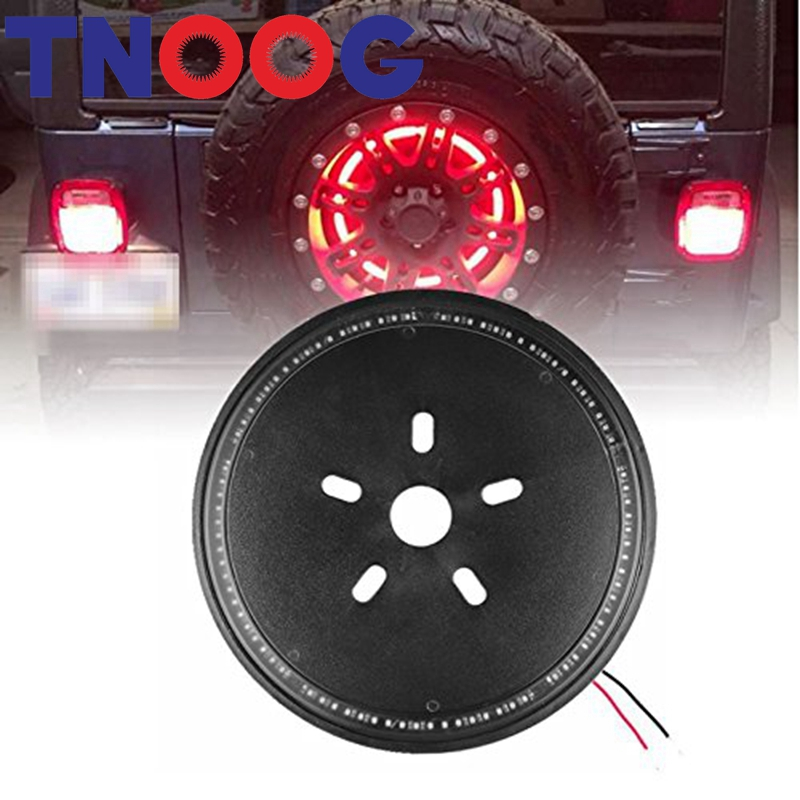 LED Spare Tire Light 3rd Round Wheel Tail Lamp Car-styling Red Brake Signal for Jeep Wrangler JK 2007-2016<br>