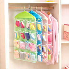 Storage Bags Hanger 16 Pocket Hanging Over The Door Socks Bag Collection Box Hanging Jewelry Organizer Earring Rings Bracelets