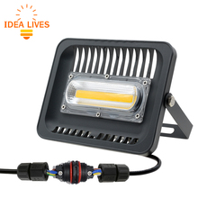 LED Floodlight 30W 50W 100W 220V IP65 Warm White/White Outdoor Flood lighting Garden With 3pin Waterproof Connector(China)
