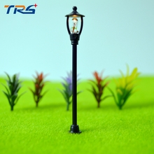 Teraysun wholesale 500pcs Single Head Scale Lampposts Train N Scale Lights Model Scale Street Lamps Model Building Lights