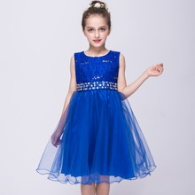 Baby Girls Dresses Pageant Wedding Bridal Lace Tutu Dress Children Toddler Bridesmaid Clothes