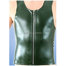 hot sexy hot lingerie Latex Men Vest Shirt sleeveless garment Uniform Clothes Maid Costume Male Short Sleeves Tops