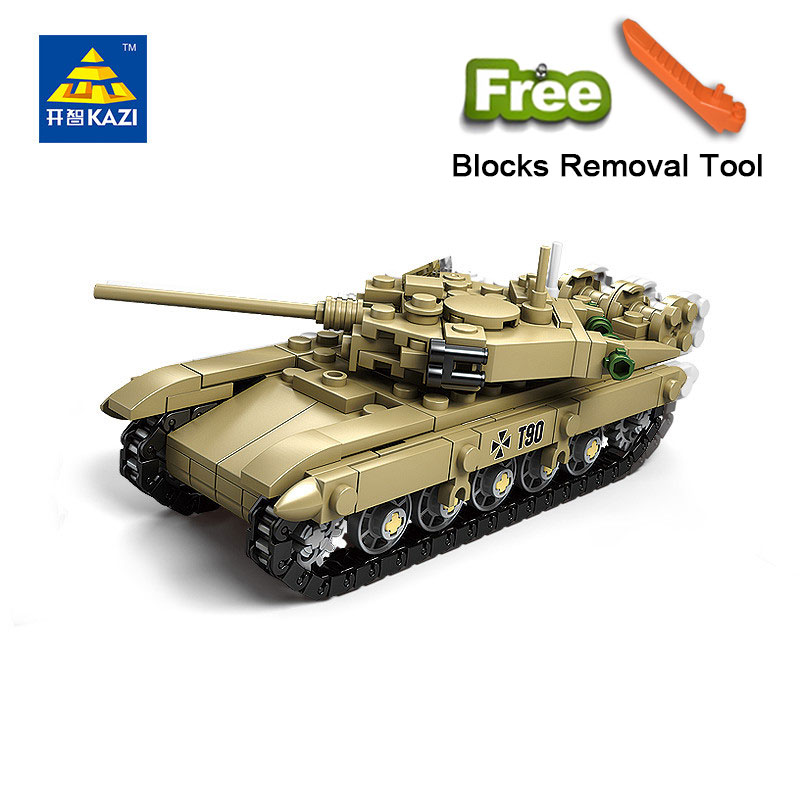 KAZI 84042 Military Building Blocks 4 Style DIY Army Classic War Tank Bricks Toys Set Gifts For Kids Compatible Legoe City<br>