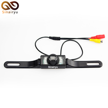 Wholeless 10PCS/Lot Universal CMOS NTSC System Camera Waterproof IR LED Night Car License Plate Rear View Camera