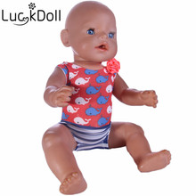 luck doll Baby Born Doll Dress Clothes fit 43cm Baby Born Zapf Dolphin swimsuit Doll Accessories For 43cm Love Hope Gift  b208