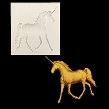 Unicorn Herbarium Transparent Silicone Mould soap silicone mold chocolate fudge cake decoration tools baking utensils LXW4157(China)