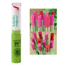 New 12 Pcs Korean Women Cosmetic Makeup Aloe Moisturizing Waterproof Lipstick Rose Color Orange Changing Lipstick Y6(China)
