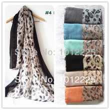 New Design Women Leopard Scarf Hot Sale Printed Female Hijab Pretty Color Scarves Viscose Free shipping