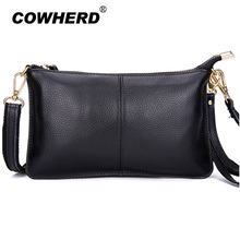 Hot sell! Fashion casual ladies party purse women clutch big capacity shoulder messenger crossbody bags 100% pure cow leather(China)