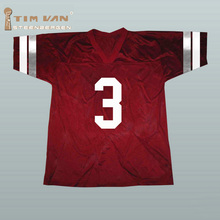 TIM VAN STEENBERGE Bayside Saved By The Bell AC Slater #3 American Football Jersey Stitched Sewn-Red