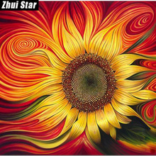 "Full Square Diamond 5D DIY Diamond Painting ""Colorful sunflowers"" Embroidery Cross Stitch Rhinestone Mosaic Painting Home Decor(China)"