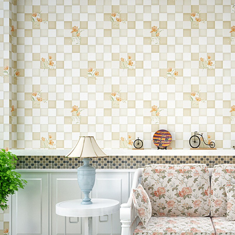 wallpaper Non-woven Embossed Flocking Wall Paper Roll Mosaic Design Wall Paper 3d Papel De Parede For Home Decoration Wall Cover<br><br>Aliexpress