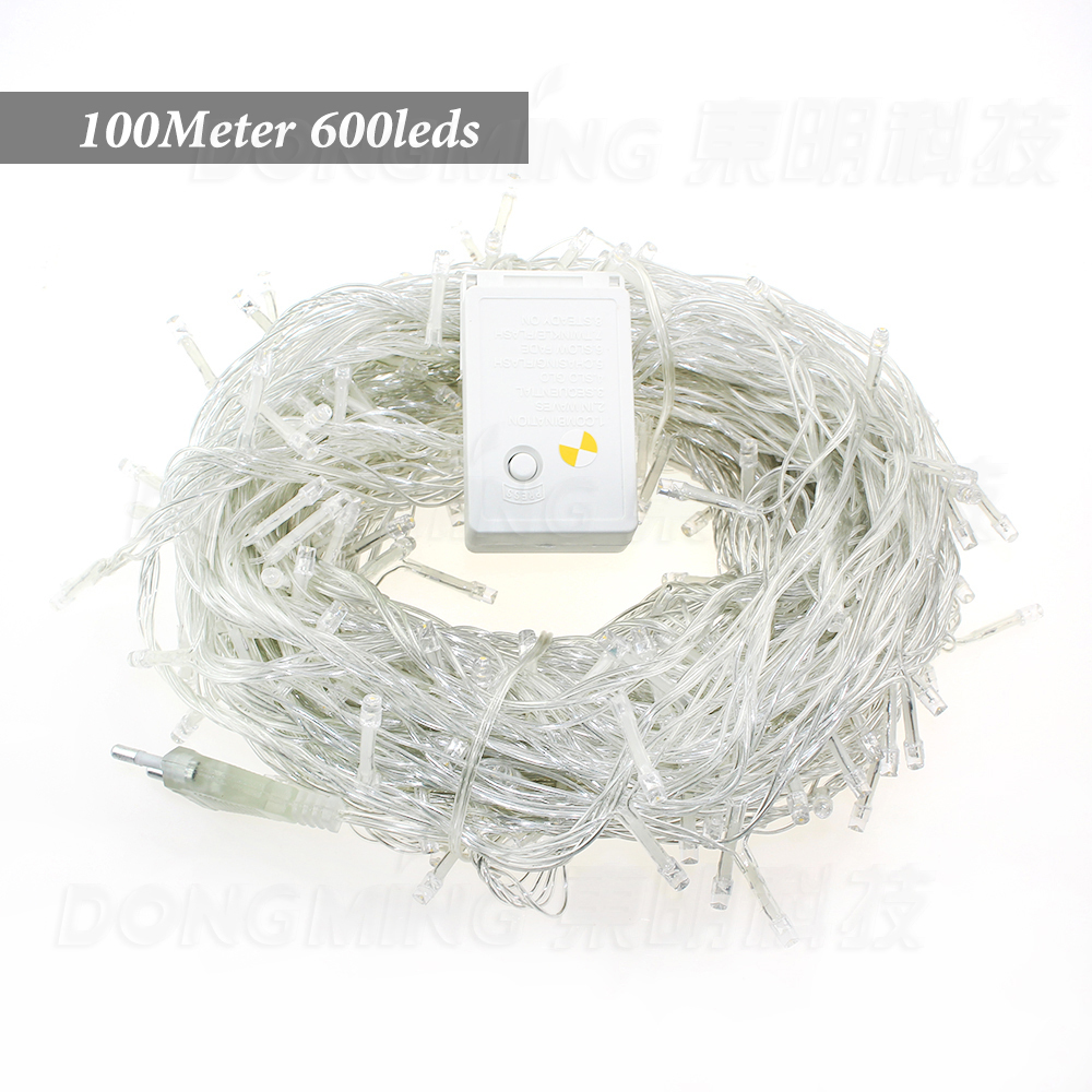 LED Christmas Lights 100M 600Leds AC220V/110v  Led String Light For Christmas Tree Lights twinkle lights<br>