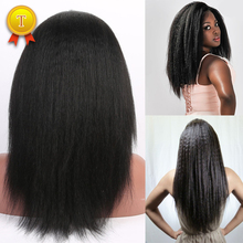 Full Lace Human Hair Wigs For Black Women Brazilian Virgin Hair Wig Kinky Straight Lace Front Human Hair Wigs Glueless Wigs