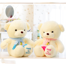 30cm Children Kids Plush Soft Teddy Bears with Scarf Stuffed Animals Toys Wedding Birthday Party Decor Lovers Girls' Gifts Dolls