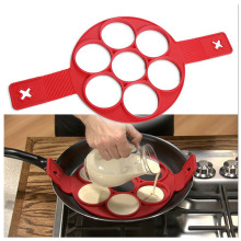 7 holes Silicone Omelette Mould Pancake Molds Fried Eggs Shaped Perfect Pancakes Breakfast Egg Ring Kitchen Cooking Tool