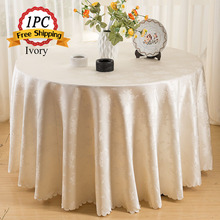 Free Shipping 1PC Table Cloth 100% Polyester Damask Jacquard Table Linen for Marriage Xmas Party Outdoor Home Wedding Decoration