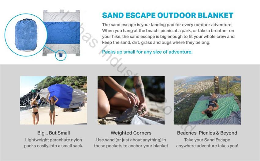 Sand Escape Compact Outdoor Beach Blanket mat new stlye25