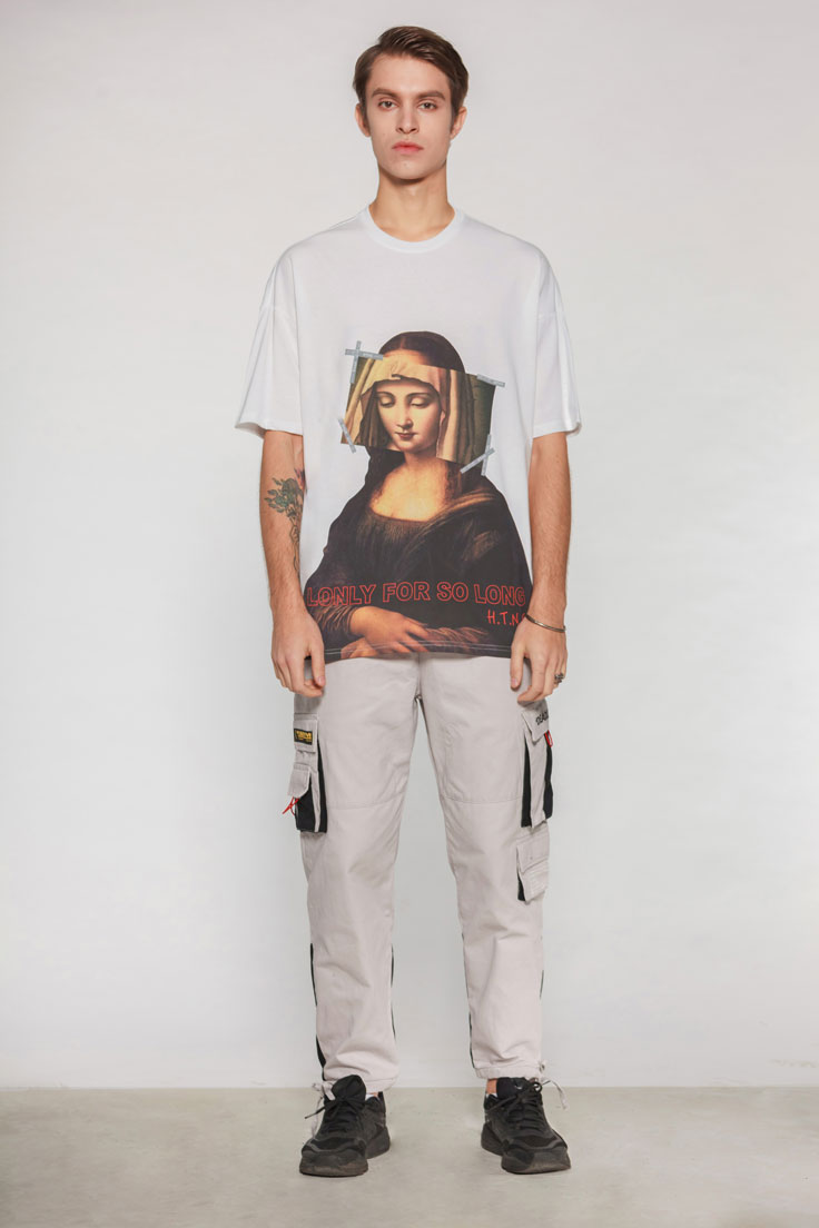 Virgin Mary Mona Lisa Printed Tshirts 3