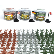 Bottled 100pcs Mini Plastic Soldier Toys 12 models, Military toy soldier, Toys for boys(China)