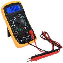 2pcs/lot New LCD Digital Voltmeter Ohmmeter Ammeter OHM Multimeter Avometer XL830L with Blue Backlight+Free Shipping-10000422(China)