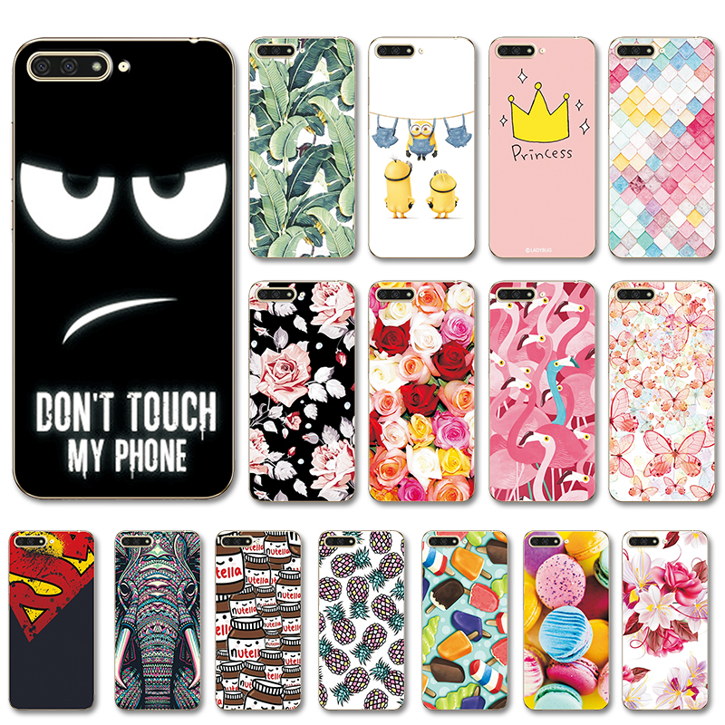 "New Arrival Case For Huawei Y6 2018 Back Cover Painted Various For HuaweiY6 2018 5.7"" Case For Huawei Y6 2018 ATU-L21 Coque(China)"