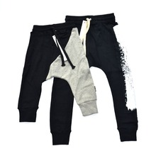 Children Brush Stroke Baggy Pants Baby Boys Harem Pants Half&Half Patchwork Kids Trousers Toddlers Clothes nununu 2017